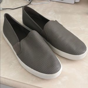 Vince perforated slip on , taupe  leather size 9